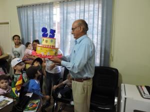 Prefeito de Bom Progresso recebe visita da Escola EMEI ARCO-IRIS
