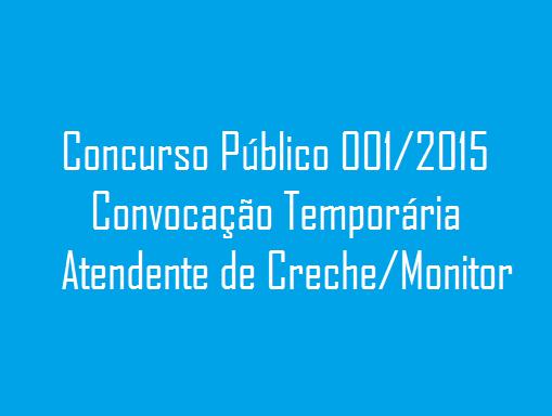CONCURSO PÚBLICO 001/2015